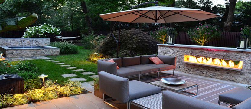 landscaping dubai - Google Search | Outdoor fireplace ...