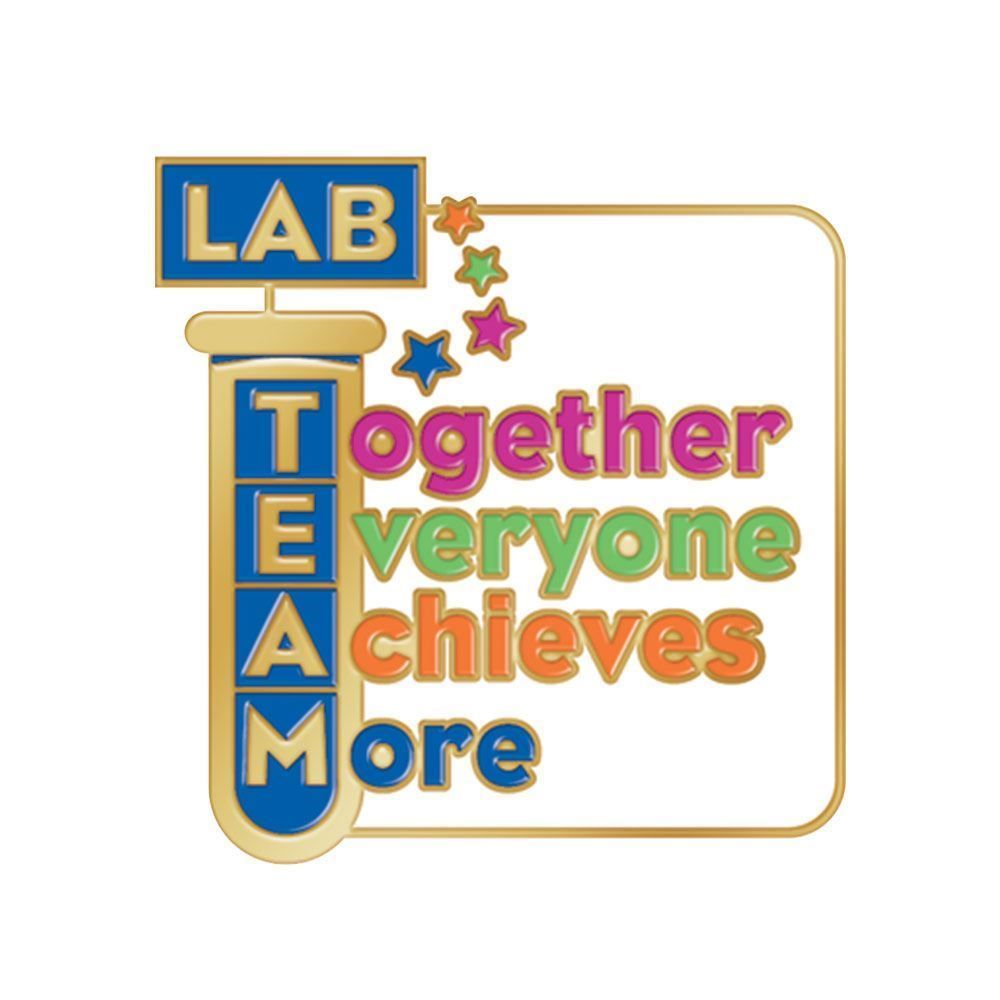 Lab Team Together Everyone Achieves More Lapel Pin With