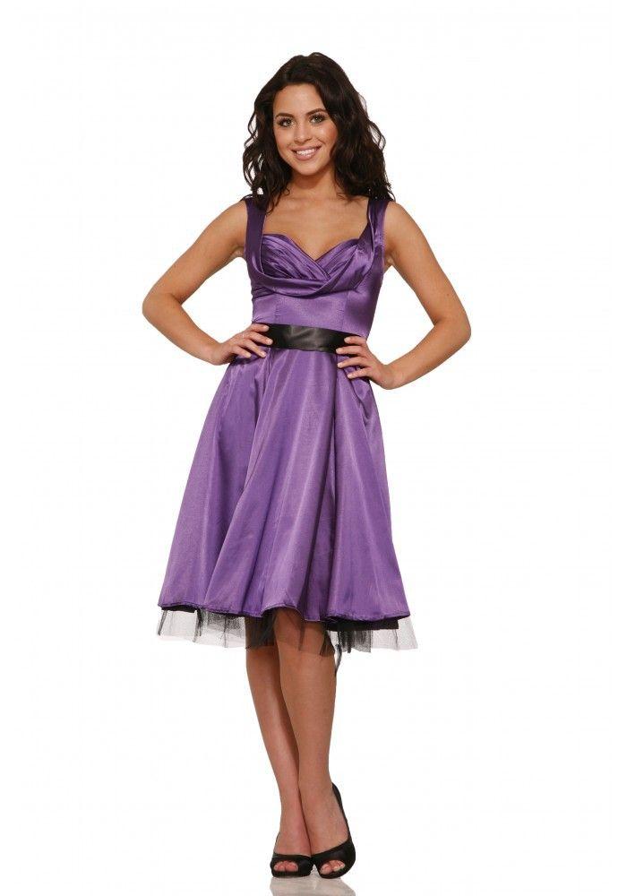 Marilyn 1950s Violet Purple Satin Cocktail Dress | Pinterest ...