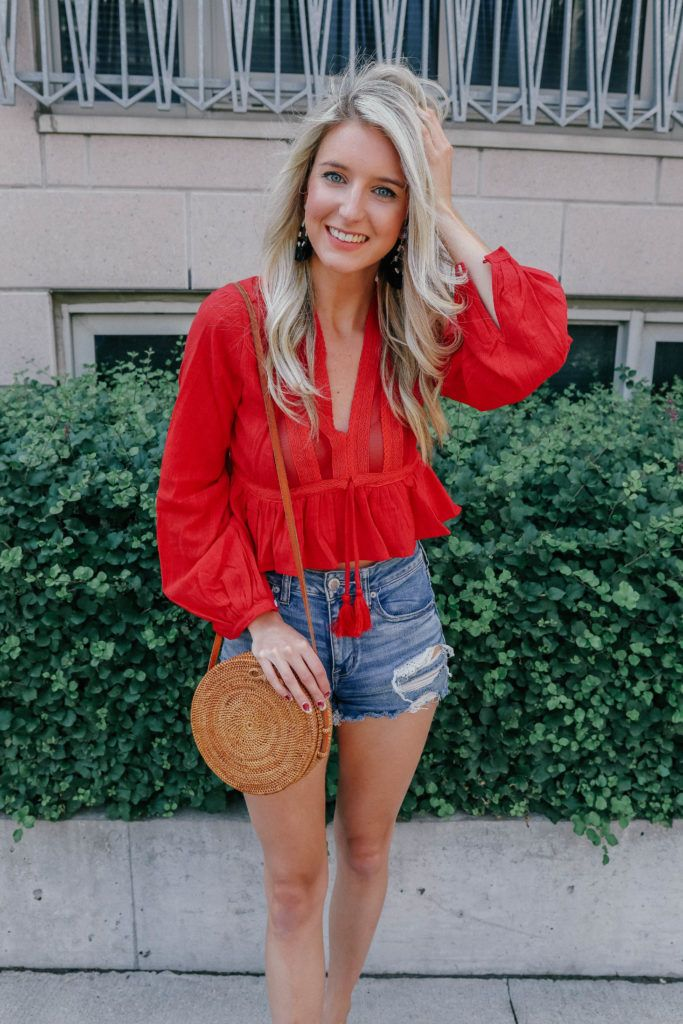 How to Style: Denim Shorts by Prada & Pearls