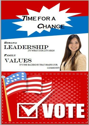Election flyer template microsoft word Free Political Campaign - flyer format word
