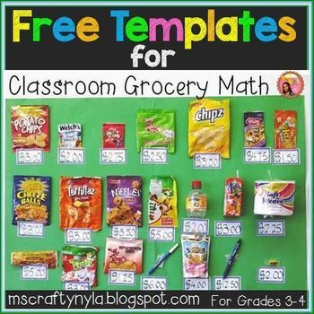 Free Shopping Bill Templates From My Classroom Grocery Corner Math Teaching Money Math Classroom Money Math
