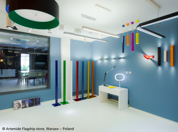 NEW FLAGSHIP STORE - 2015. A place to share the Artemide experience and the emotion of light… A place providing competence and the right solution for any project… A place to design the right lighting system for each habitat… Welcome in our new flagship store : Ludwika Rydygiera 8/6 (c/o Idea MM), 01-793 Warsaw, Poland.