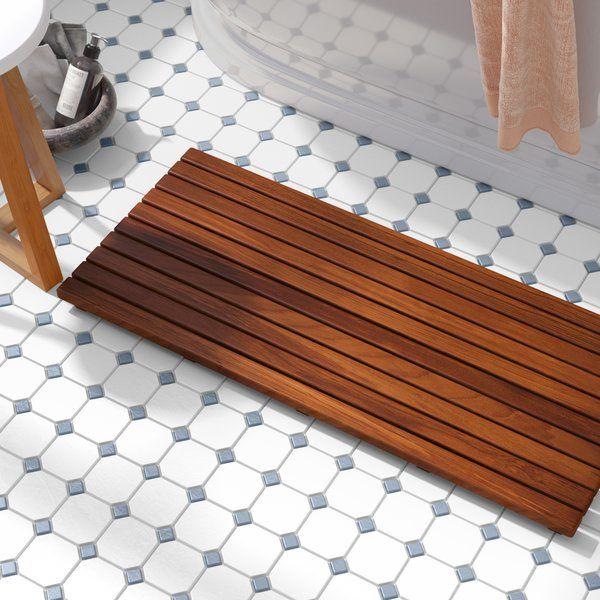 Nempnett Thrubwell Shower Mat Teak Shower Mat Wood Bath Teak