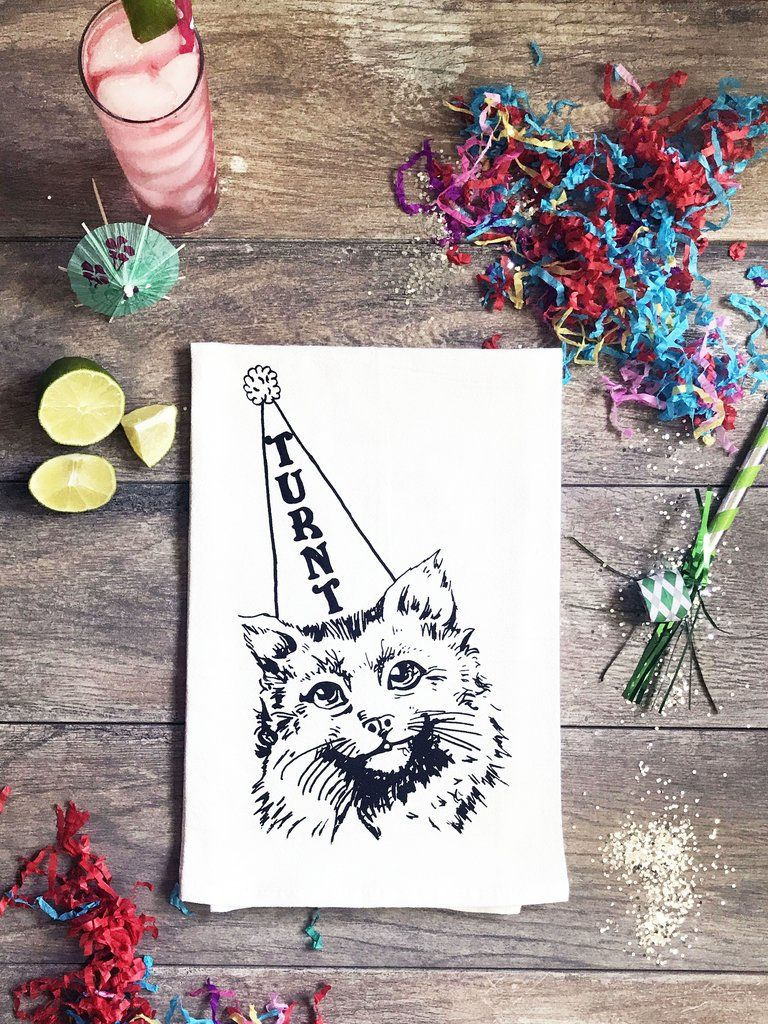 Turnt Kitty Cotton Kitchen Towel | Towels, Cotton towels and Laundry