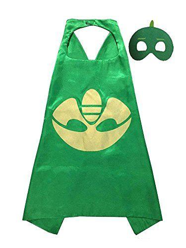 PJ Masks -Cape and Mask Set, PJ Mask Party Favors Green Gekko >>> You can find more details by visiting the image link.