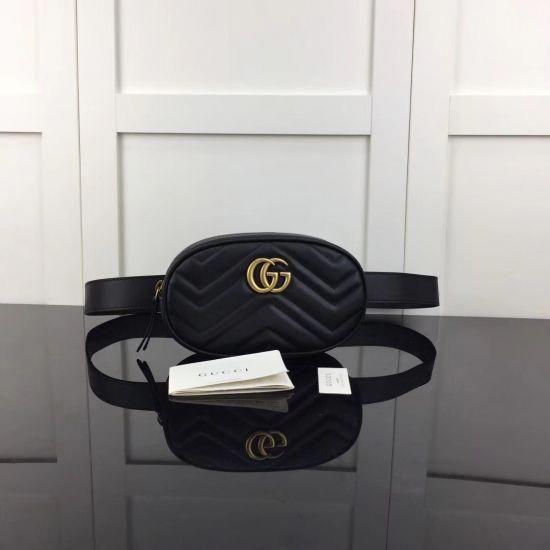821e88558b46a2 Gucci GG Marmont matelassé leather belt bag 476434 DSVRT 1000 #Guccihandbags