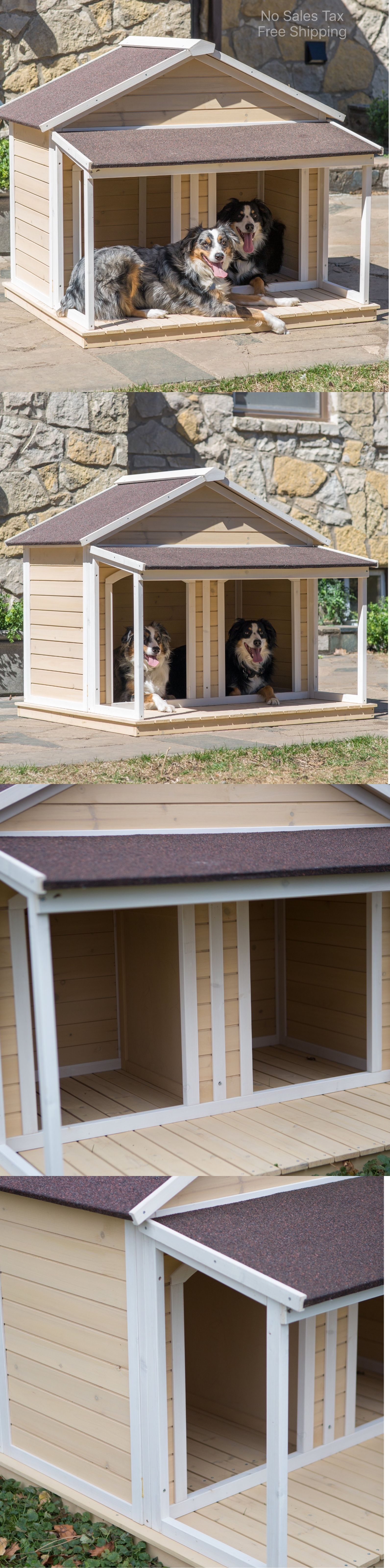 Dog Houses 108884 Duplex Dog House Dog Houses For Two Dogs Double Medium Pet Shelter Cage Kennel Buy It Now Only Cool Dog Houses Dog Kennel Cover Dog House