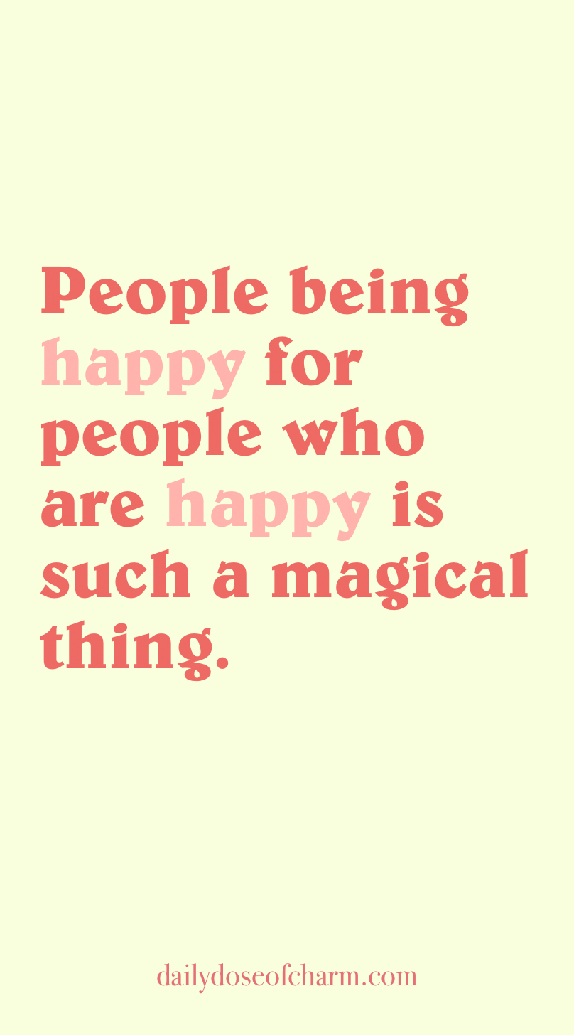 people being happy for people who are happy is such a ...