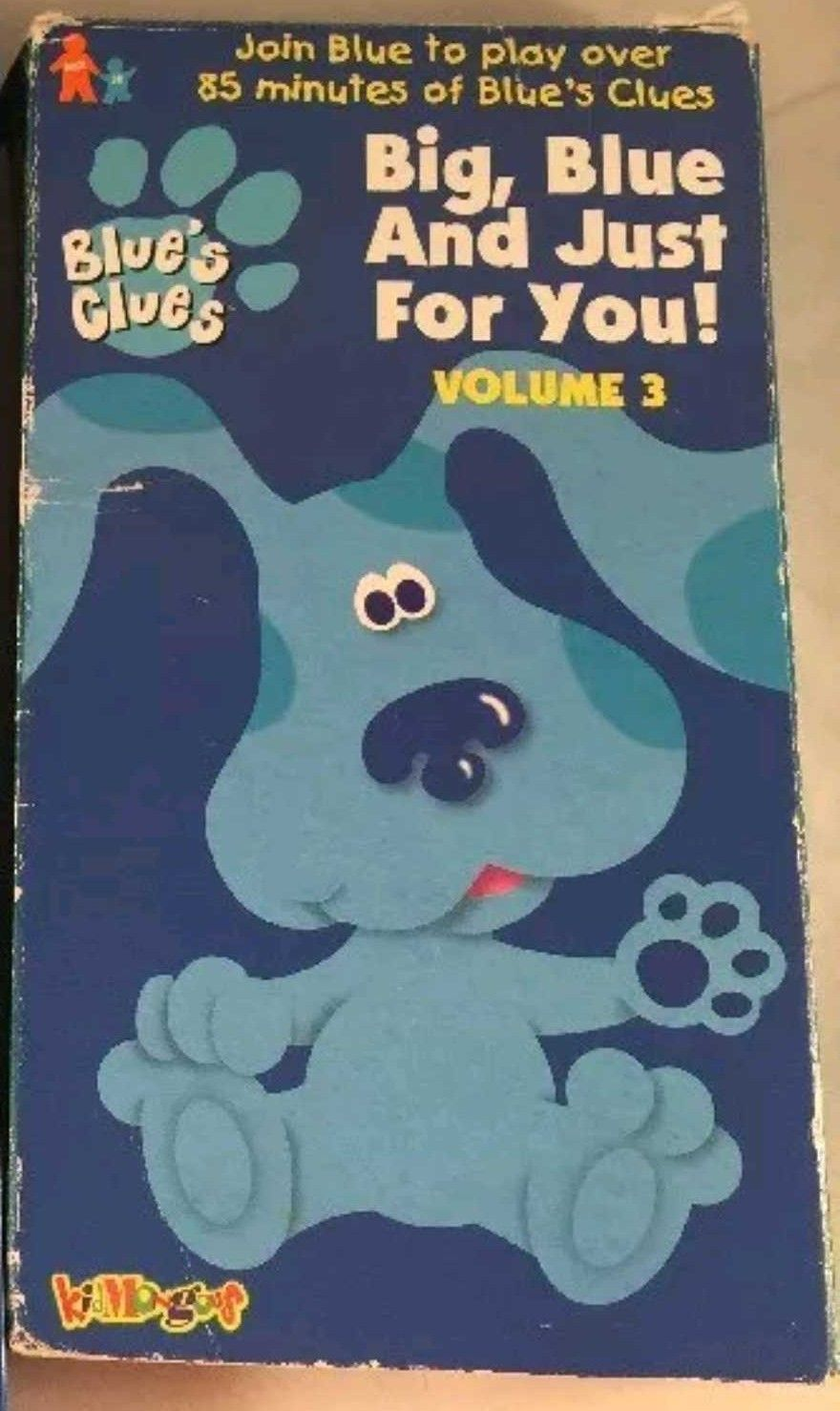 Blue's Clues Big Blue and Just for you Volume 3 1999 VHS ...
