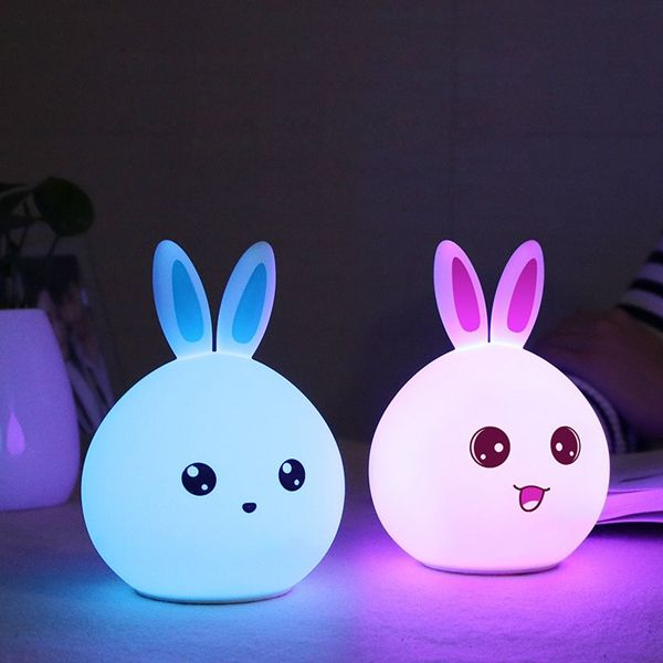 Color Changing Silicone Rabbit Night