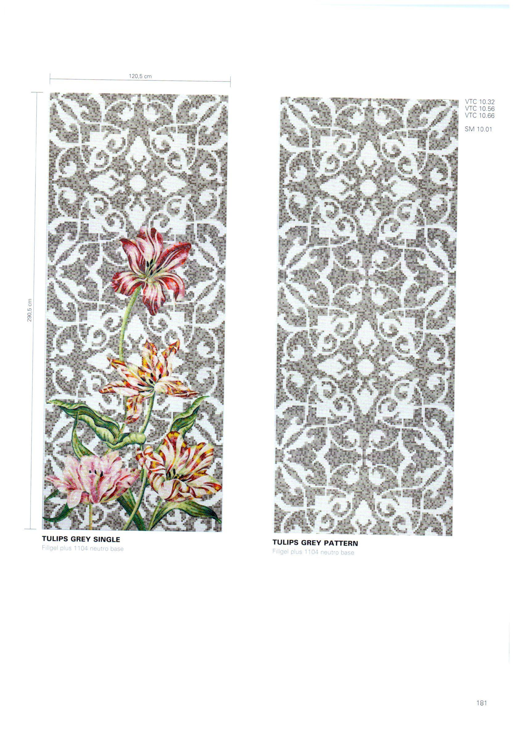 Flora Decor Tile Bisazza Decori Flora Tulips Grey  Mosaic Tile  Pinterest  Flora