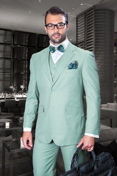 3153ea3deac Men s 3 Pc Fashion Suit by STATEMENT - Apple Green