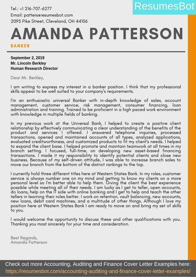 banker cover letter samples  u0026 templates  pdf word  2019