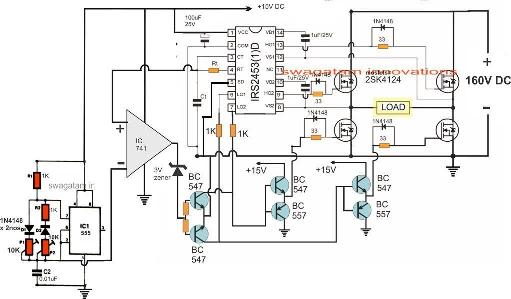 sinewave inverter circuit using arduino electronic circuit projects