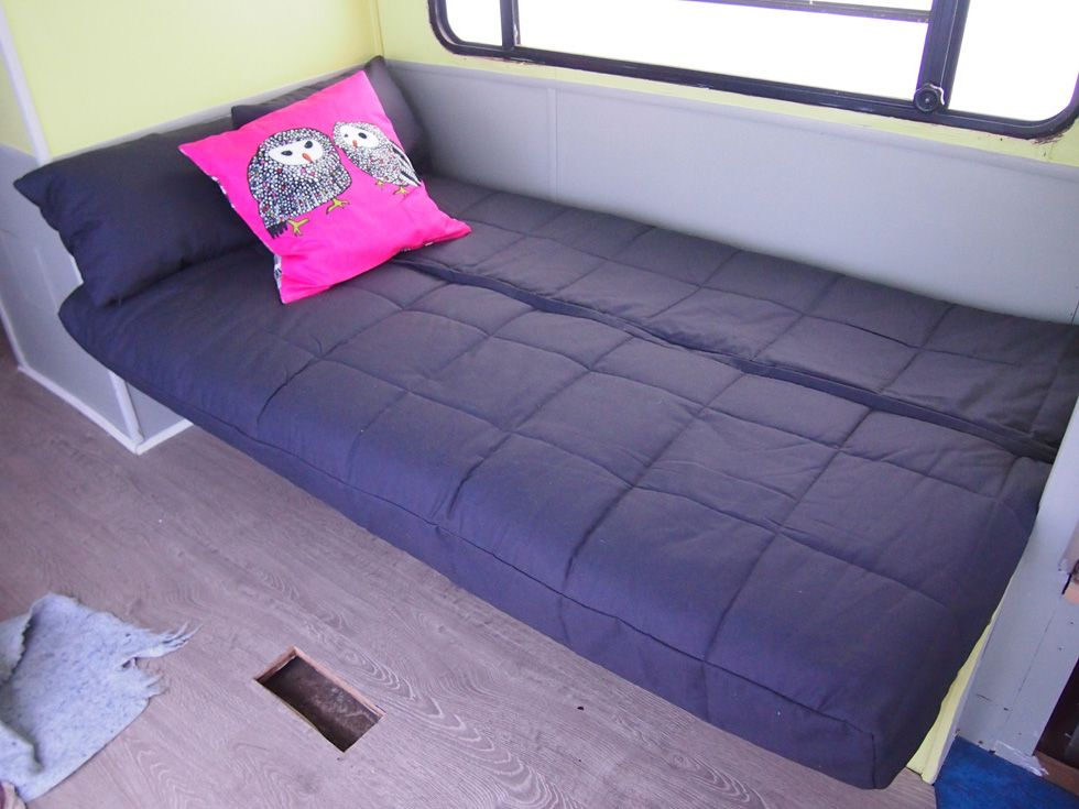 Jackknife Sofa Futon covers Rv and Camper remodeling