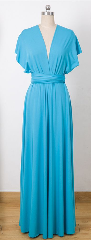 28c06f960b9 Dodger Blue Convertable Dress
