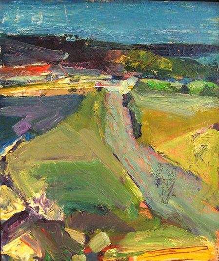 Terry St John Berkeley Marina 2003 Landscape Paintings Abstract Landscape Painting Abstract Landscape