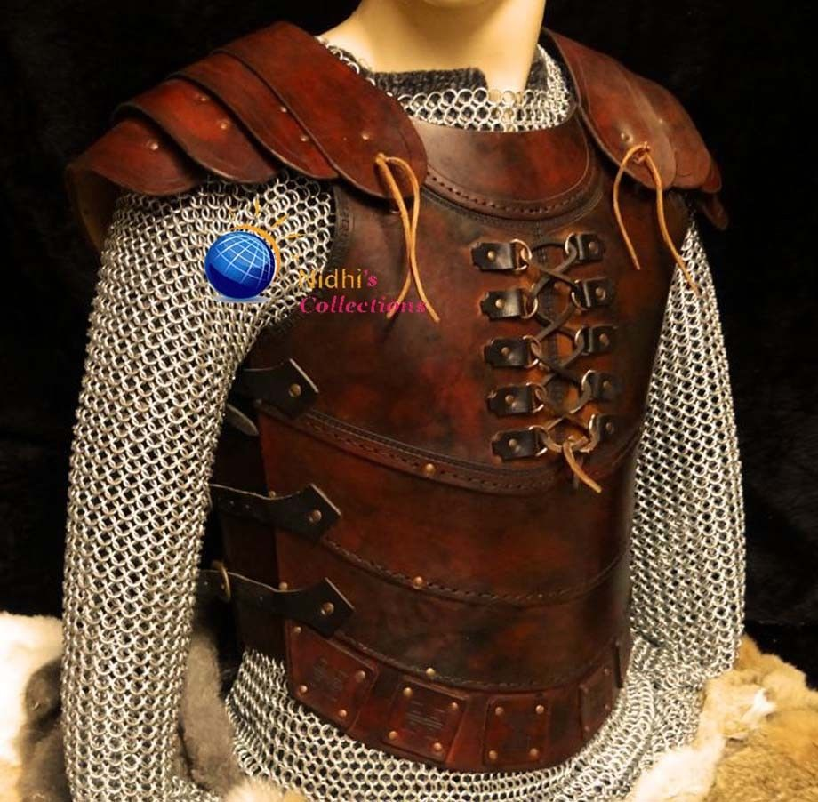 MEDIEVAL ARMOR  COSTUMES DRESS VIKING SCA RENAISSANCE GENUINE LEATHER VEST