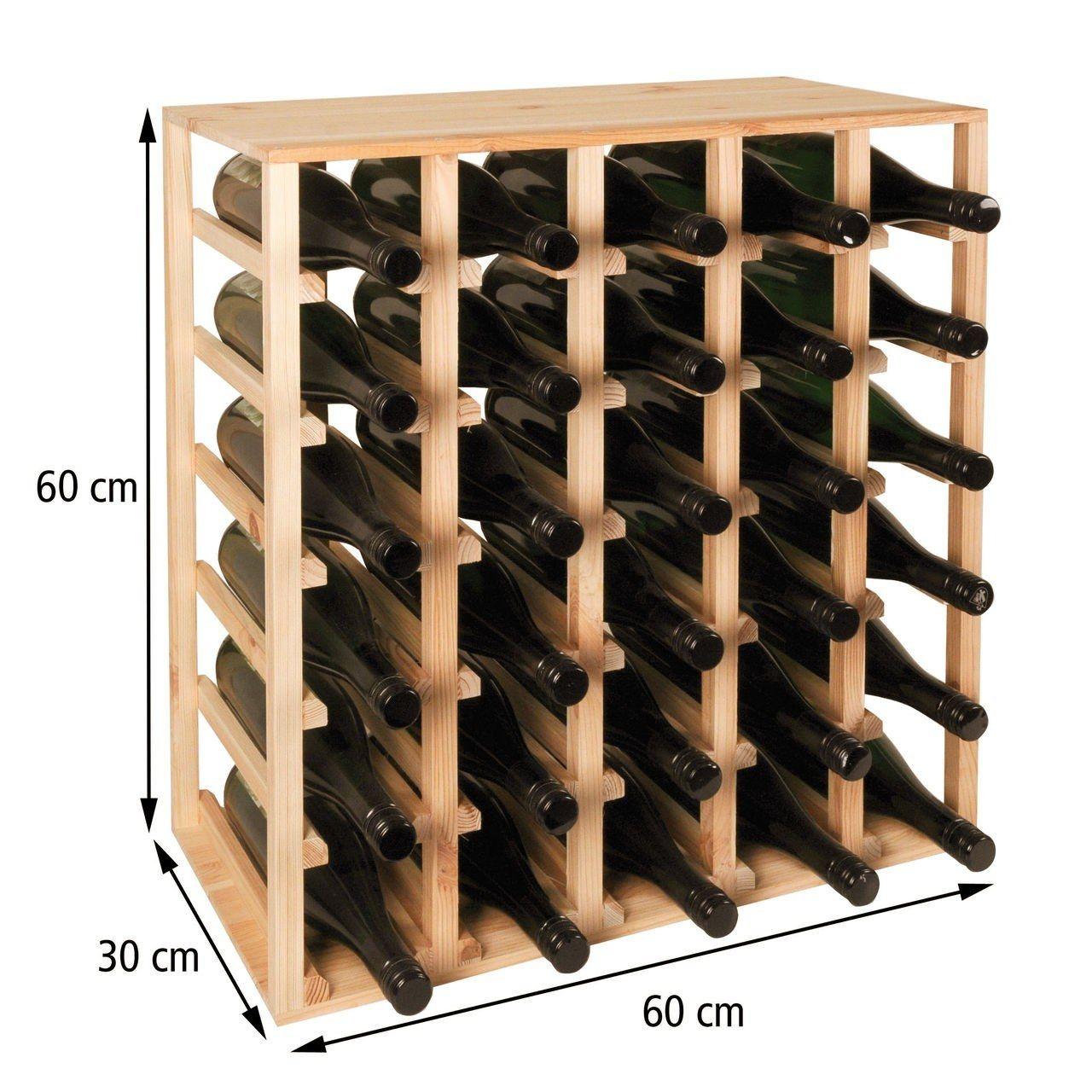 Weinregal 60 Cm Modul Quadri Holz Natur Mit Bildern