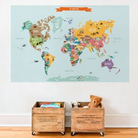 Countries of the world map kids country world map poster countries of the world map kids country world map poster educational map for kids peel and stick poster sticker decorating pinterest poster wall gumiabroncs Image collections