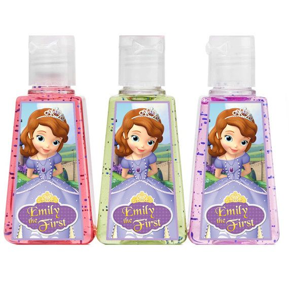 Personalized Sofia The First 1 Oz Hand Sanitizer Party Favors On