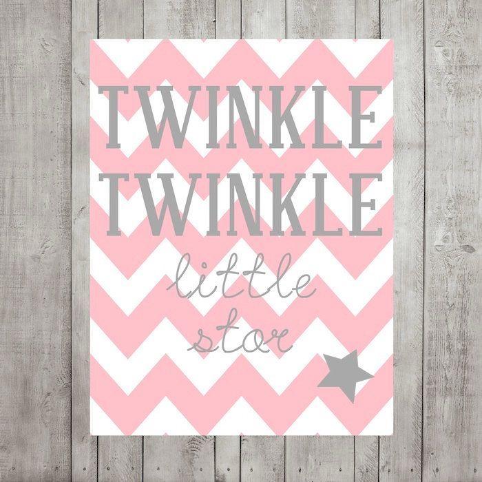Nursery Wall Decor- Kids Wall Prints-Twinkle Twinkle Little Star ...