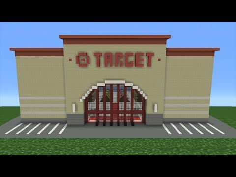 Minecraft Tutorial How To Make A Target Store Minecraft Tutorial Minecraft Shops Minecraft Construction