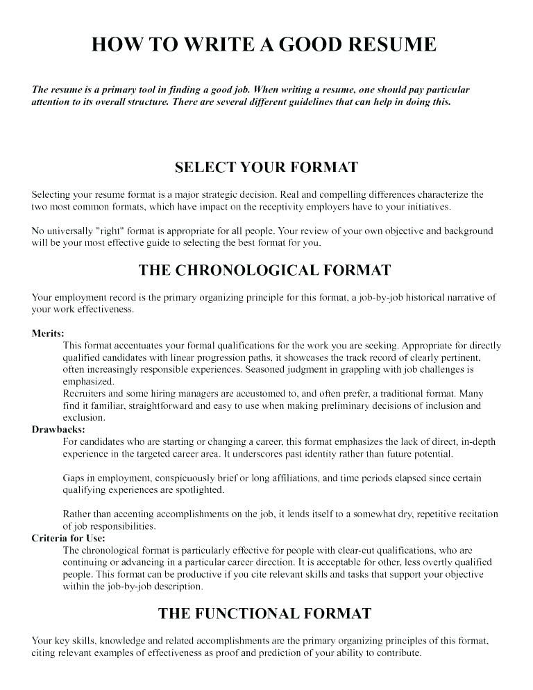 Resume Format And Font Size Format Resume Resumeformat