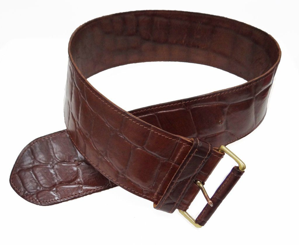 6ff056f57 Vintage Osprey Wide Leather Belt, c.1990 | Menage Modern Vintage ...
