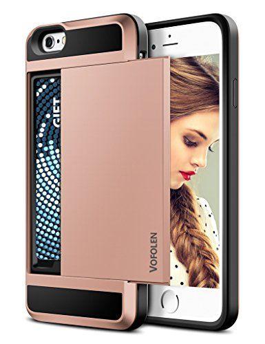 iPhone 6S Case, Vofolen® Impact Resistant Hybrid iPhone 6 Wallet Case Protective…