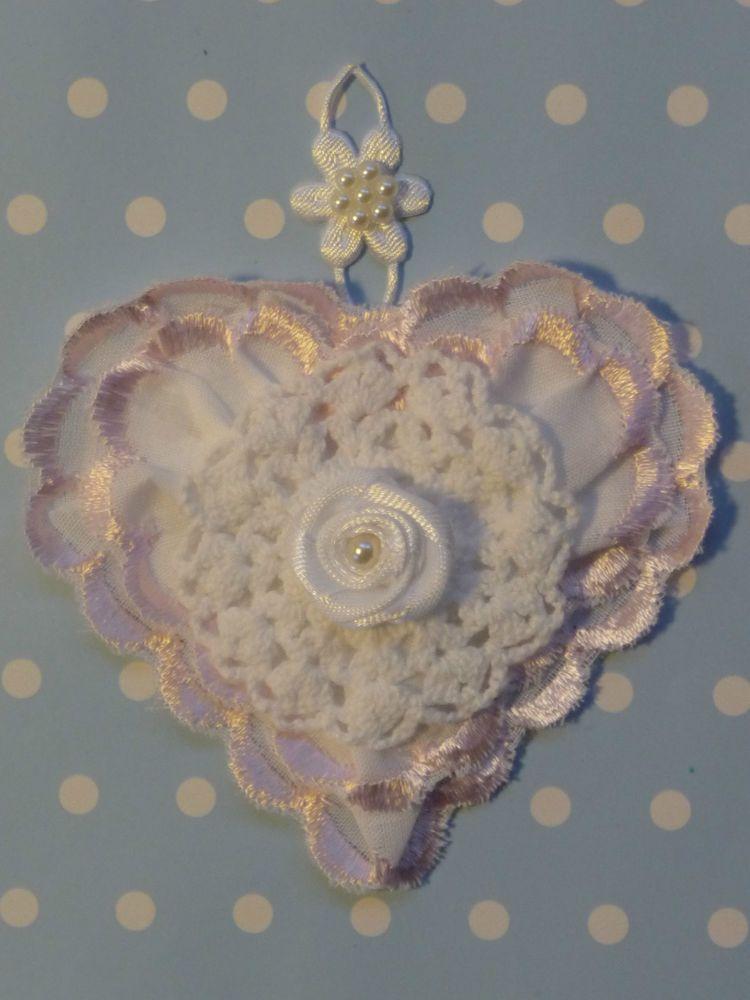 Vintage Herz Shabby Nostalgie Spitze Hochzeit Taufe Valentinstag Dekoration Rose