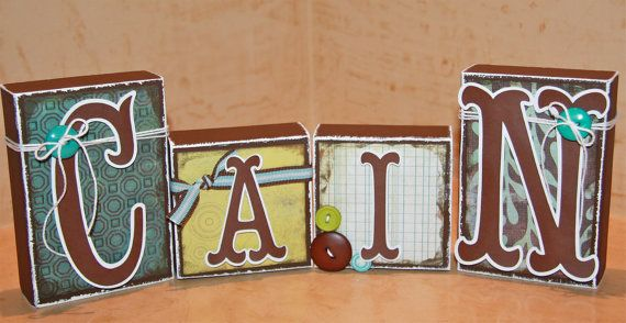 Blocks/Name Boutique Custom Boys/Girls Baby Child by Tweetfeathers, $45.00