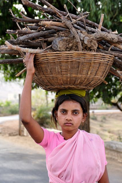 Girl carrying Wood | Beautiful girl indian, Simplicity is beauty ...