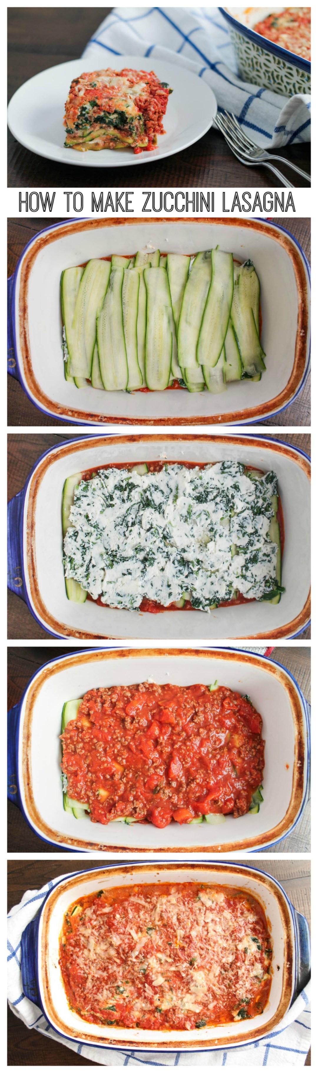 How to make zucchini lasagna vegetarian recipes low