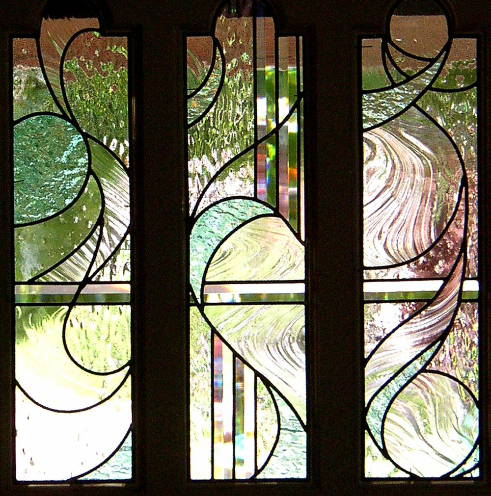 Stained glass interior doors - Stained Glass Front Doors For A Side Door Made To Complement The