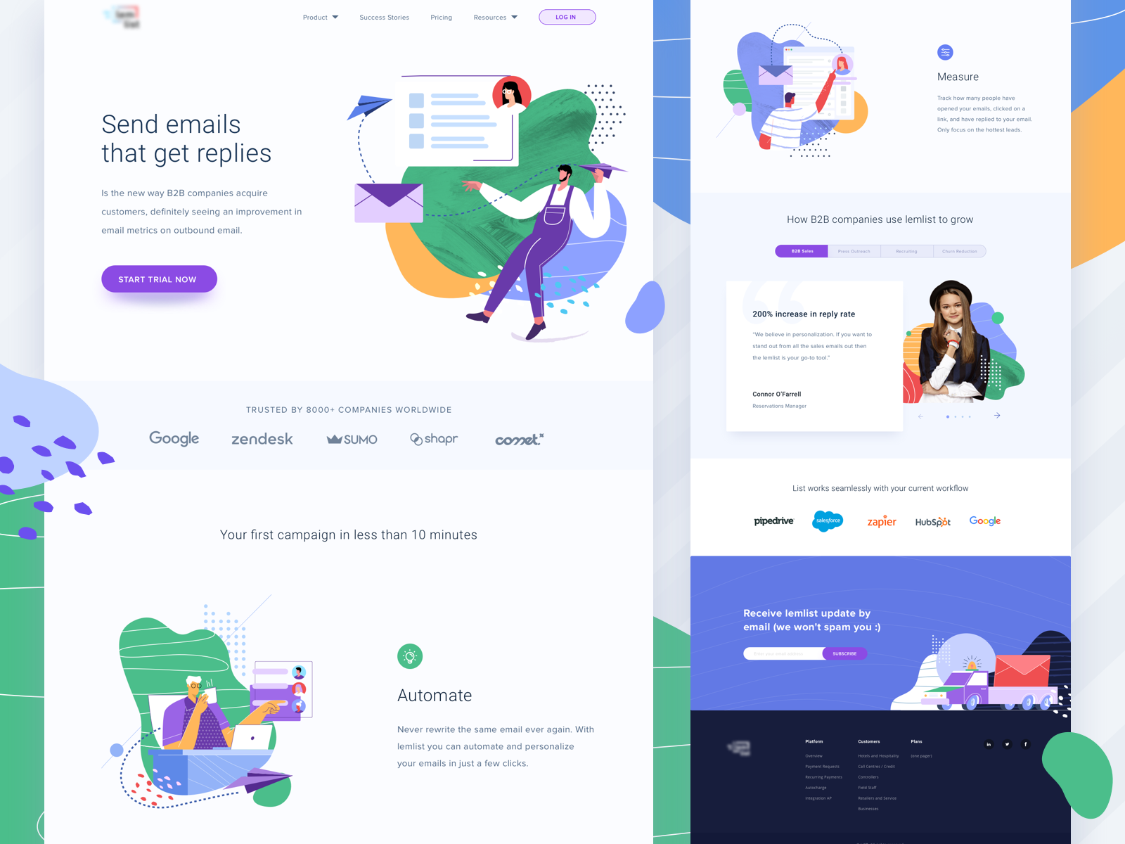 Email Manager S Landing Page Landing Page Design Page Design Management