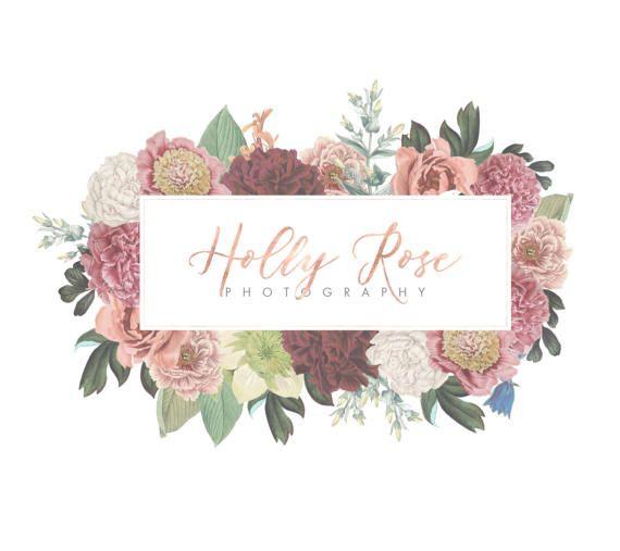 Logo Design, Vintage Flowers, Florist Logo Design, Logo