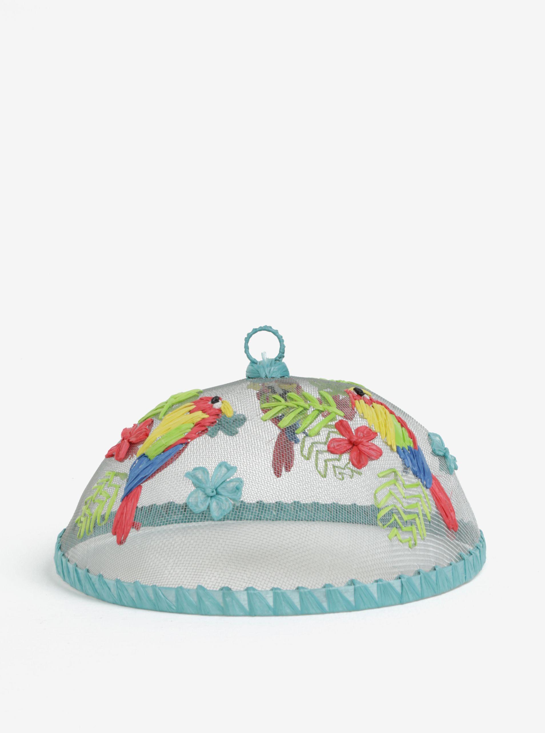 bc7748237dca Typ  poklop na jedlo s vyšívaným motívom papagájov a kvetov Farba  modrá