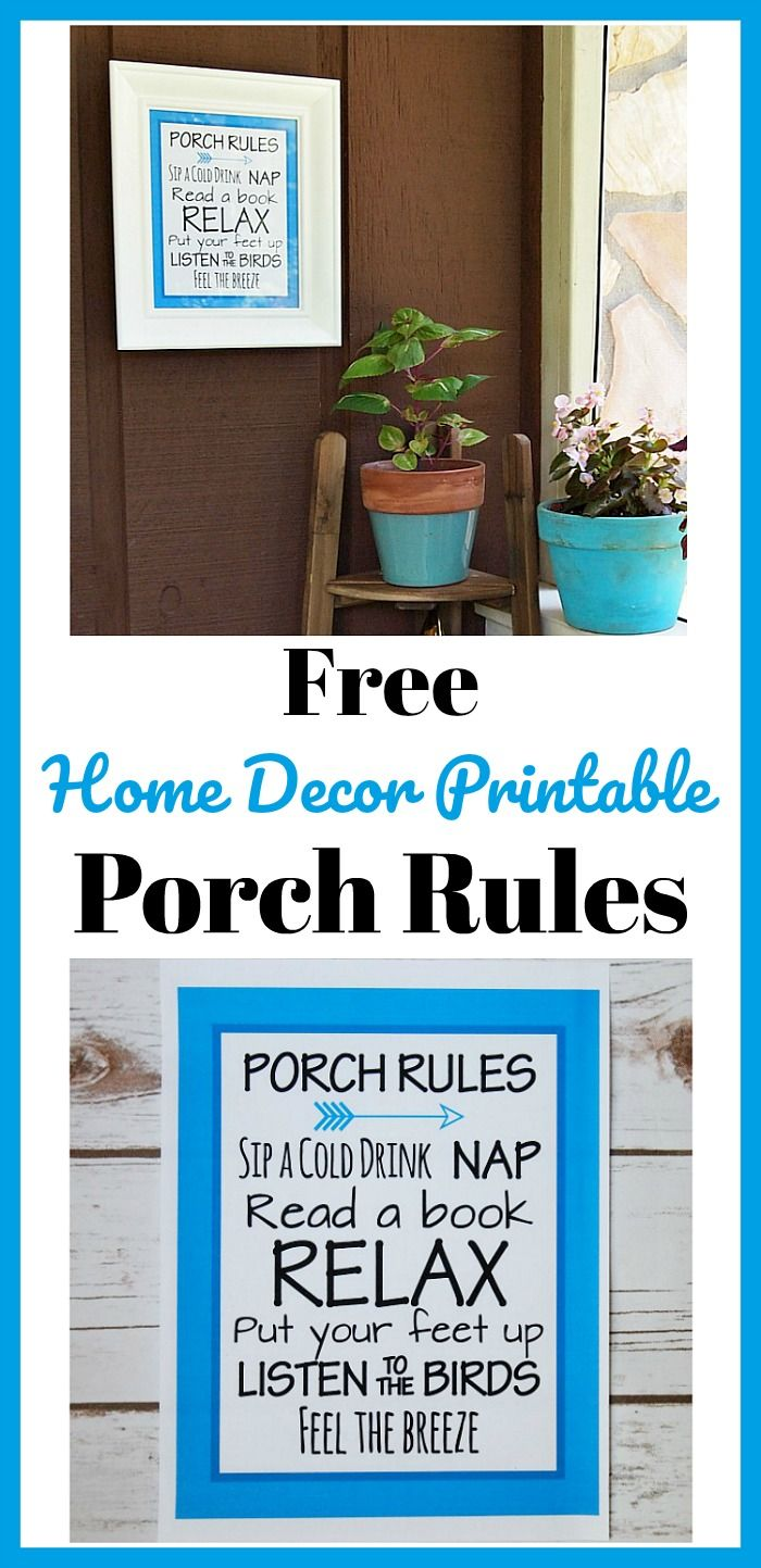 free porch rules home decor printable pretty blue wall on fast and easy ways to refresh your home on a budget id=87107