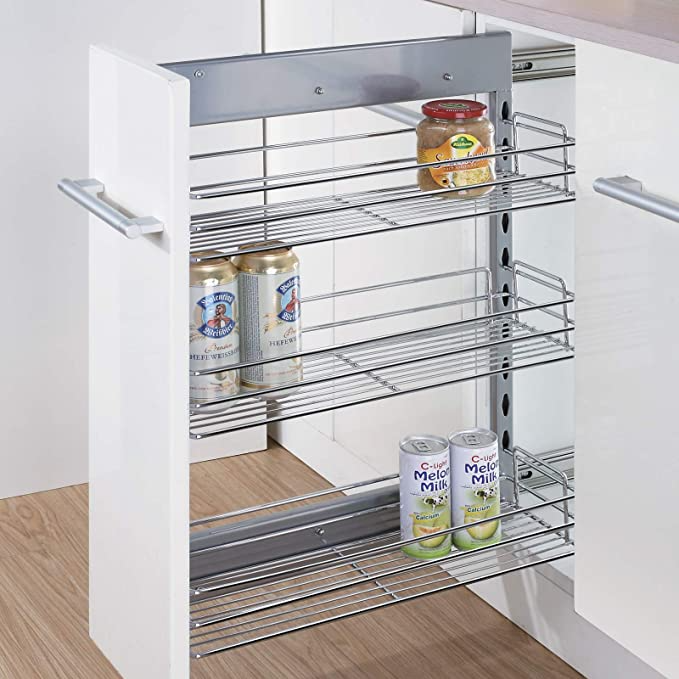 8 inch pull out cabinet spice organizer