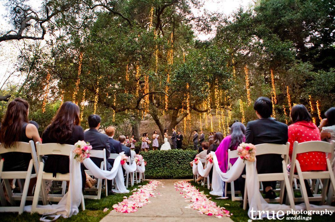 A Twinkling Calamigos Ranch Wedding Ceremony in Malibu
