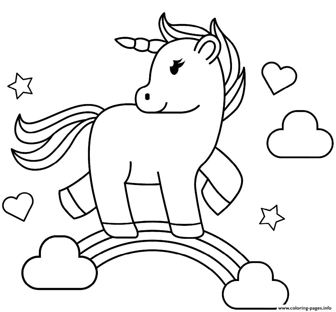 Print Rainbow Unicorn Coloring Pages Unicorn Coloring Pages