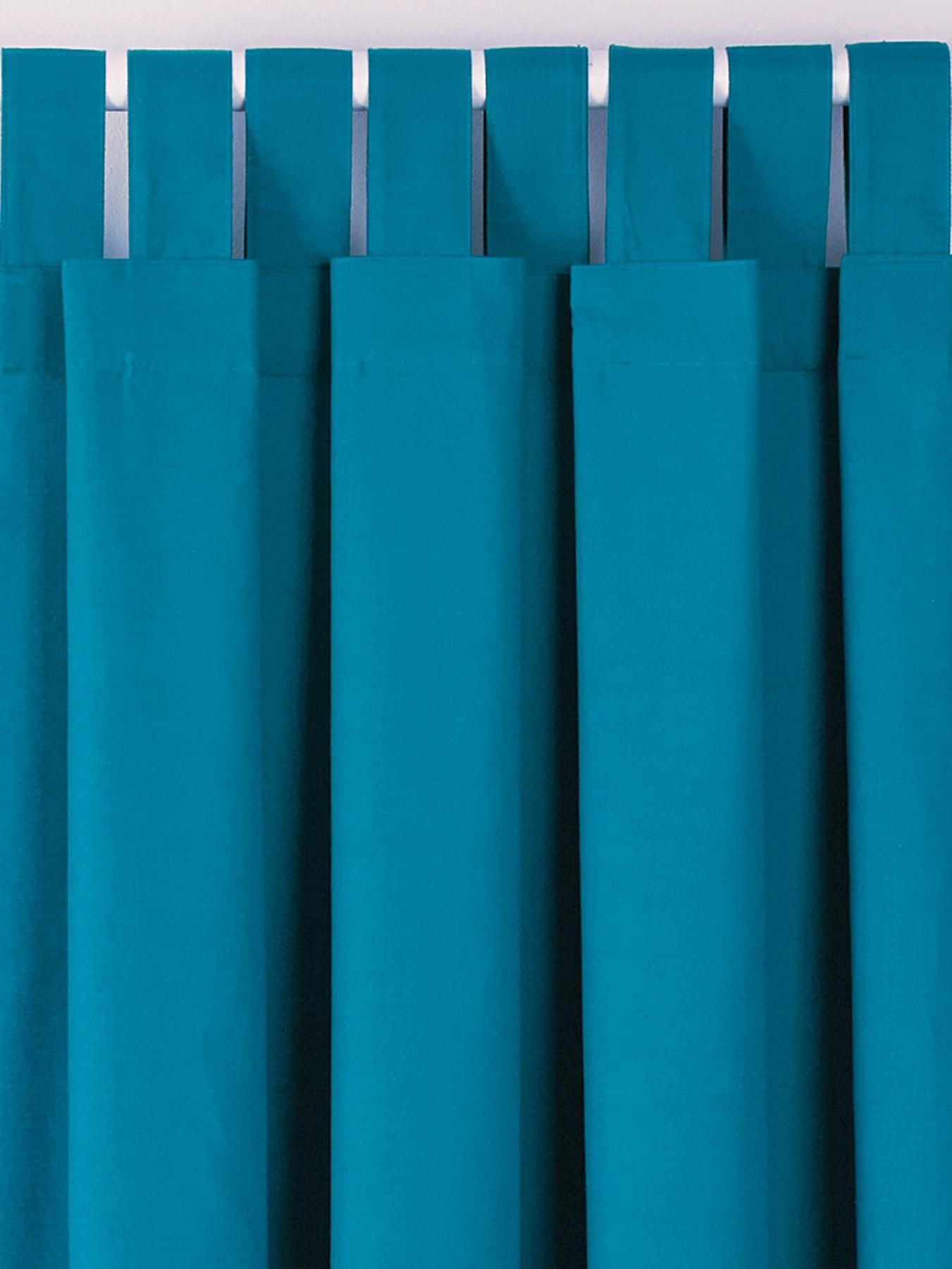 Plain Dye Tab Top Curtains | woolworths.co.uk