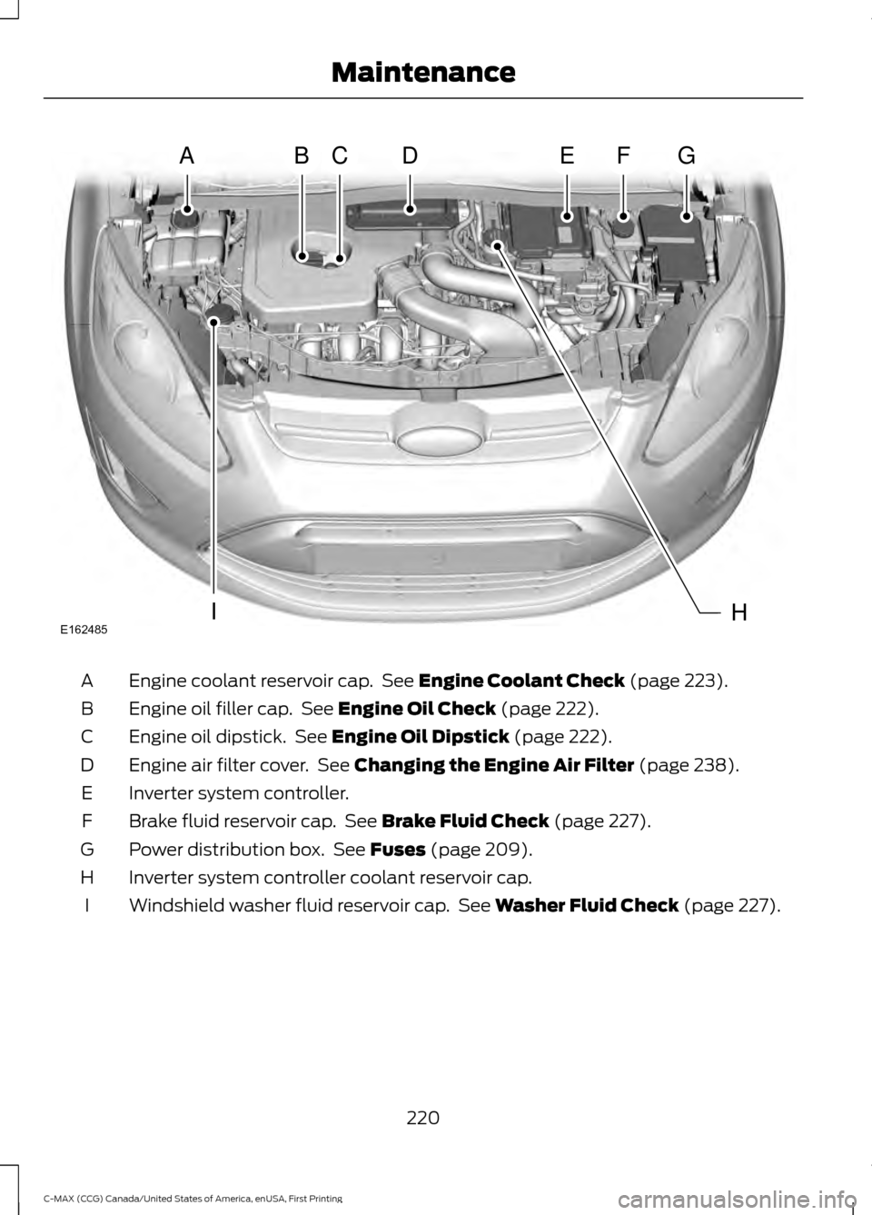 Ford C Max Hybrid 2016 2 G Owners Manual Ford C Max Hybrid Owners Manuals Air Filter Cover