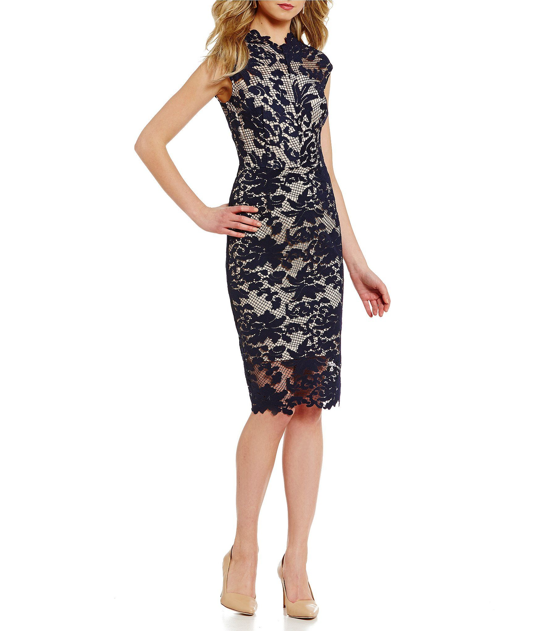 7fa1e449f5c Shop for Antonio Melani Madeleine Mock Neck Sleeveless Lace Sheath Dress at  Dillards.com. Visit Dillards.com to find clothing