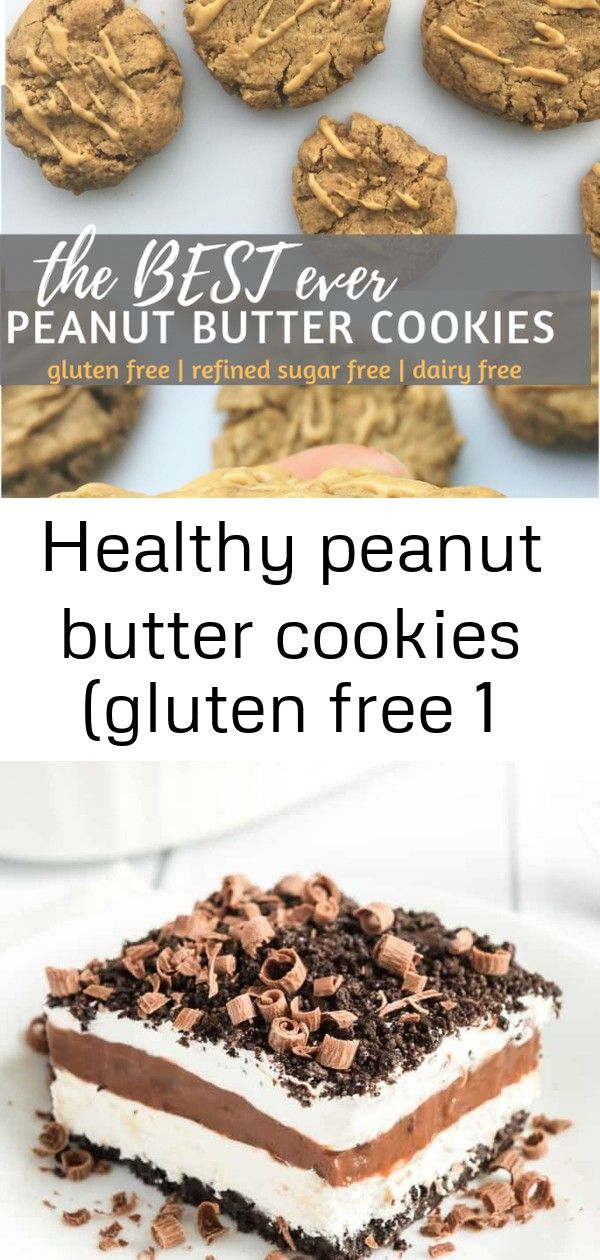 Healthy peanut butter cookies gluten free 1 These are the best Healthy Peanut Butter Cookies youll ever eat Only 5 ingredients and about 15 minutes Gluten refined sugar a...