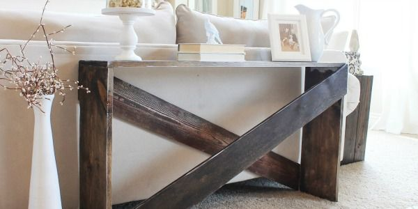 Build An Inexpensive And Easy Sofa Table For Just 20 A Few Hours No Tools Required Great Beginner Diy Building Project
