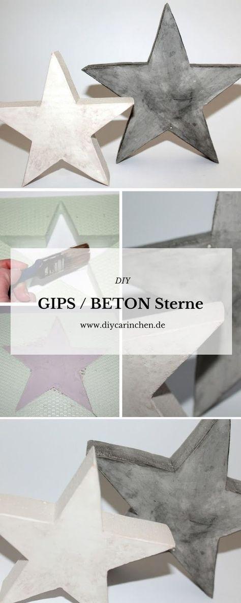 Photo of DIY Gips Beton Sterne einfach gießen selbermachen – Weihnachtsdeko