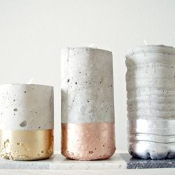 Tutorial on how to cast you own concrete votives.